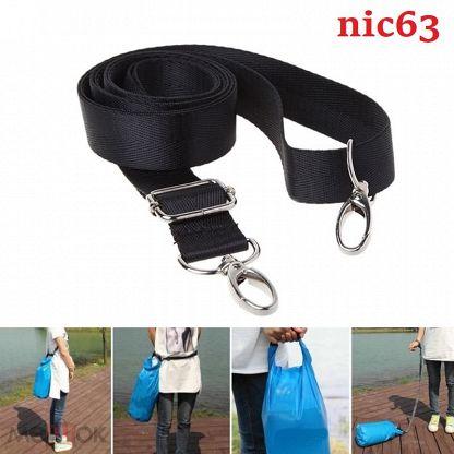Регулируемый наплечный  ремень с металическими карабинами для крепления сумки рюкзака камеры фотоапп