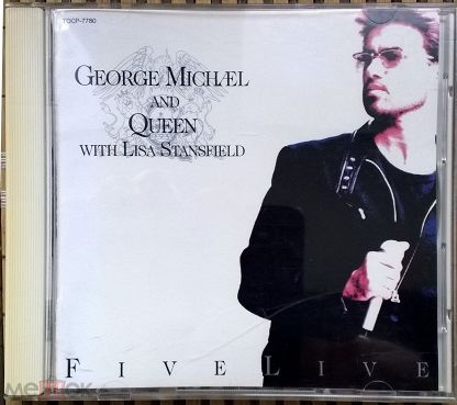 George Michael and Queen - Five Live ,1993 (JAPAN CD, TOCP-7780,1 Press)