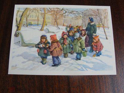 Кошки для, дети на прогулке открытки