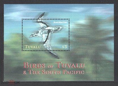 Тувалу (Tuvalu) 2000. Птицы. Буревестник. Блок (78)