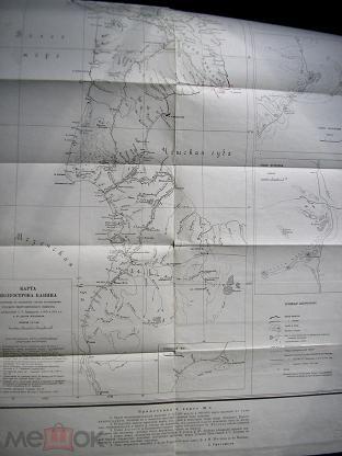 Карта полуострова Канина. Масштаб 1: 617 000. 1929 г.