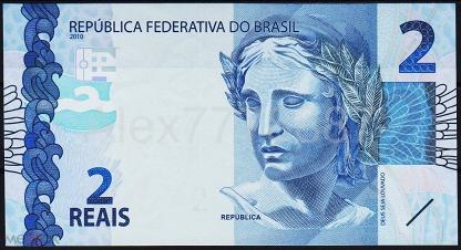 Бразилия 2 реала 2010(17г.) P.NEW - UNC