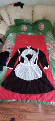 Школьная форма СССР. Новая с бирками. Платье+2 фартука.
