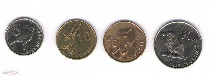 5,10,50 нгве и 1 квача Замбия (годовой набор, лот № 2) 2012 год