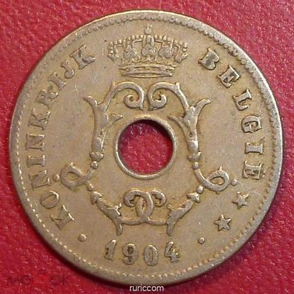 Бельгия. 10 САНТИМОВ 1904 год. BELGIE. ОРИГИНАЛ 100%. С 1 рубля.