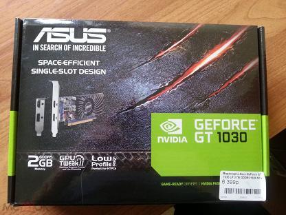 Видеокарта Asus GeForce GT 1030 LP 2Gb GDDR5 1506 Мгц