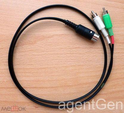 DIN - RCA (Европа-Азия) кабель длиной 1 метр