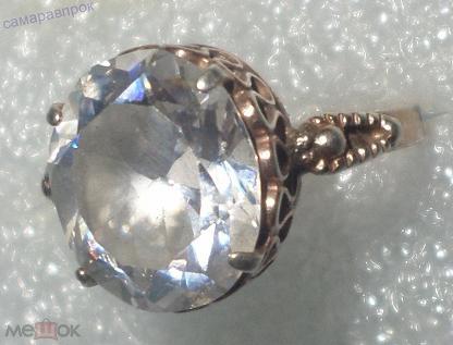 Кольцо-перстень Серебро 925пр С КАМНЕМ горный хрусталь??? ПОЗОЛОТА стиль винтаж Р- 18.1мм. Мешок - интернет-аукцион