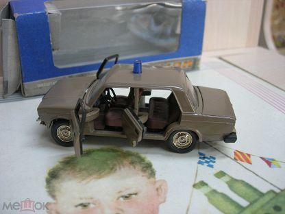 Модель СССР 1:43 ВАЗ 2107 УВД Родная коробка 1993 год.
