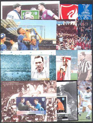 0257 Спорт Футбол UEFA Чемпионат Европы 1994 Канальные острова Великобритания 12 блоков п/с ** 22,0£