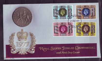 КПД Англия 1977г. юбилей монета медаль