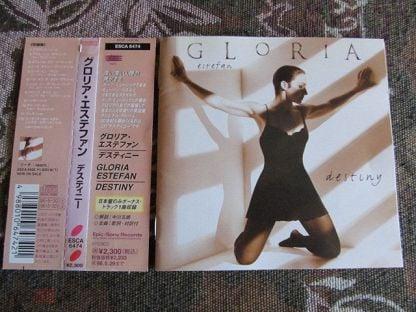 """Gloria Estefan. """"Destiny"""". Japan CD. OBI. 1996. EPIC/SONY RECORDS. PUA-99 1. IFPI 45 ED."""