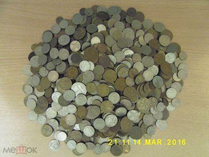 Куча монет ссср до 1991г вес 3,100 кг + 3 шт кресты (торги завершены #39885017)