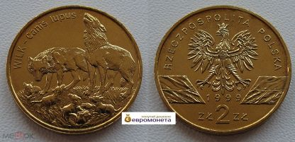 Польша 2 злотых сокол птица список монет 2017