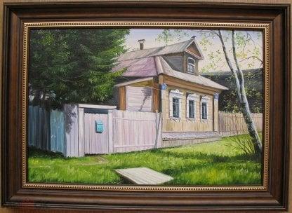 Деревенский домик. 40х60см холст, масло