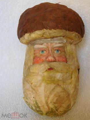 Картинки по запросу ватная елочная игрушка  гриб с лицом  ссср
