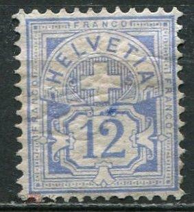 Швейцария 1882 марка Крест Цифра Мих#48  220$  ???