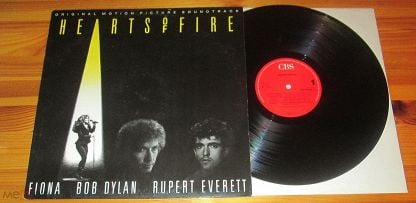 ♫ Fiona, Bob Dylan, Rupert Everett ☀ Hearts Of Fire (Soundtrack) ► LP ©℗ 1987 Holland (NM) 10/4