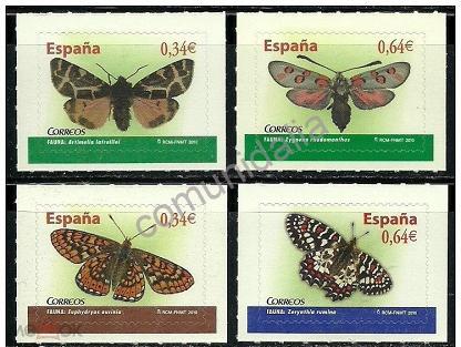Испания 2010 Mh 4475-4476 +4493-4494 ФАУНЫ. Бабочки MNH**