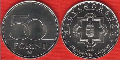 50 форинтов продать монету один рубль 1870 1970 цена