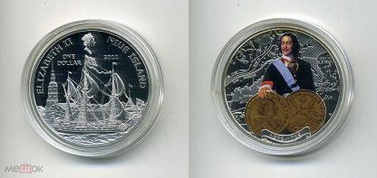 Монета ниуэ 1 доллар 2011 с новосельем боливийская копейка 7 букв