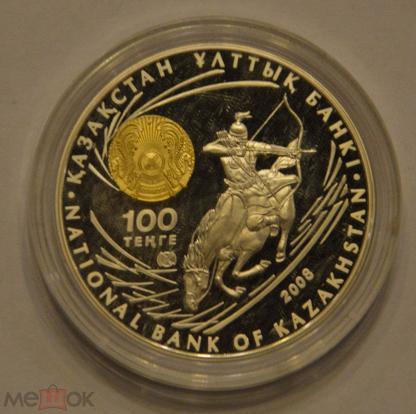 Казахстан 100 тенге (хан аттила) 2009 год номер 057