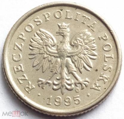 Монета польская 50 грошей 1995 г стоимость цена на 25 копеек 2009г украина