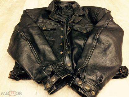 Куртка кожаная мужская бомбер пилот байкер рокер USA size L ( 50р ) 210b1357e85b8