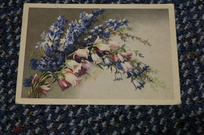 Открытка полевые цветы 1954 год, открытка аппликация бумаги